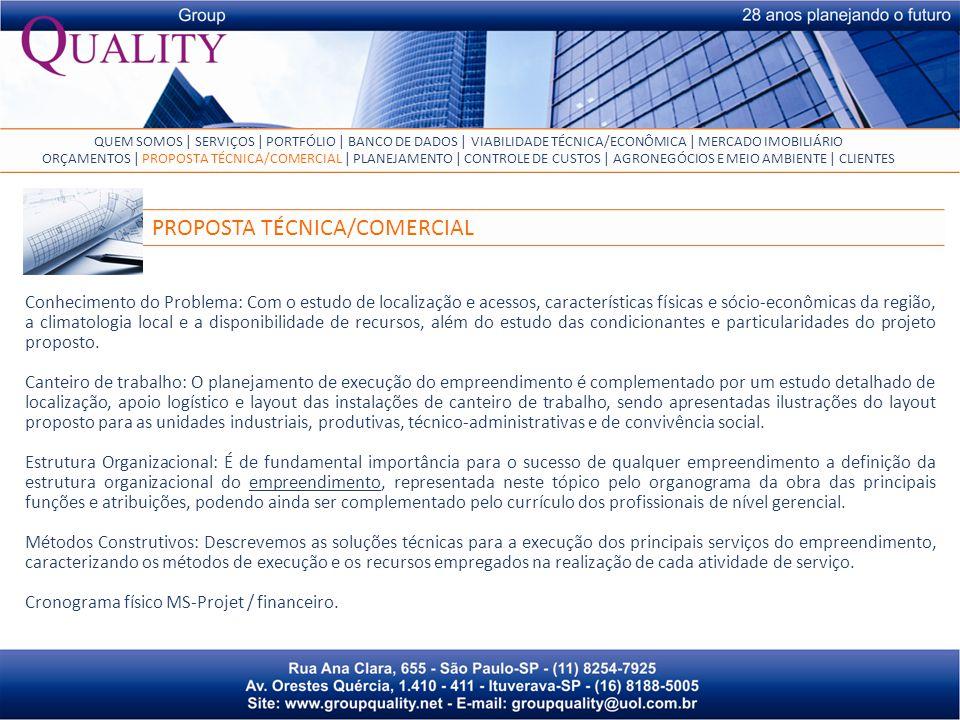 PROPOSTA TÉCNICA/COMERCIAL
