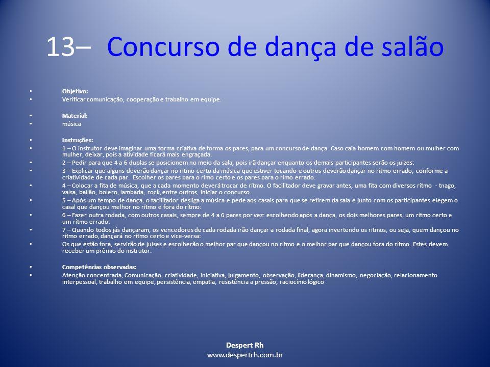 13– Concurso de dança de salão