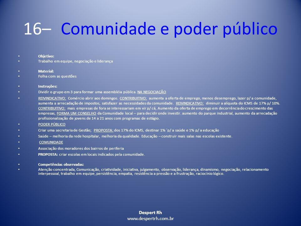 16– Comunidade e poder público