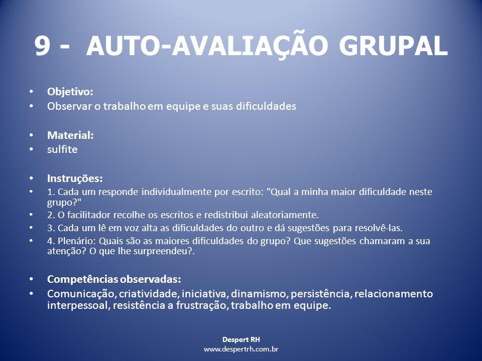 9 - AUTO-AVALIAÇÃO GRUPAL