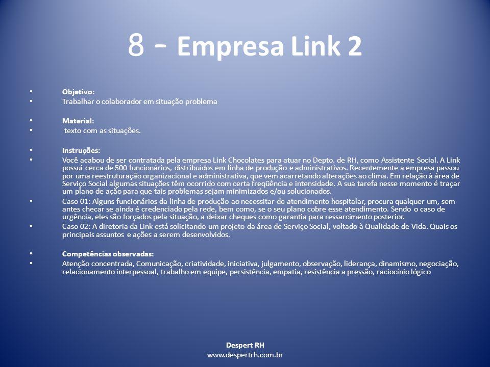 8 – Empresa Link 2 Objetivo: