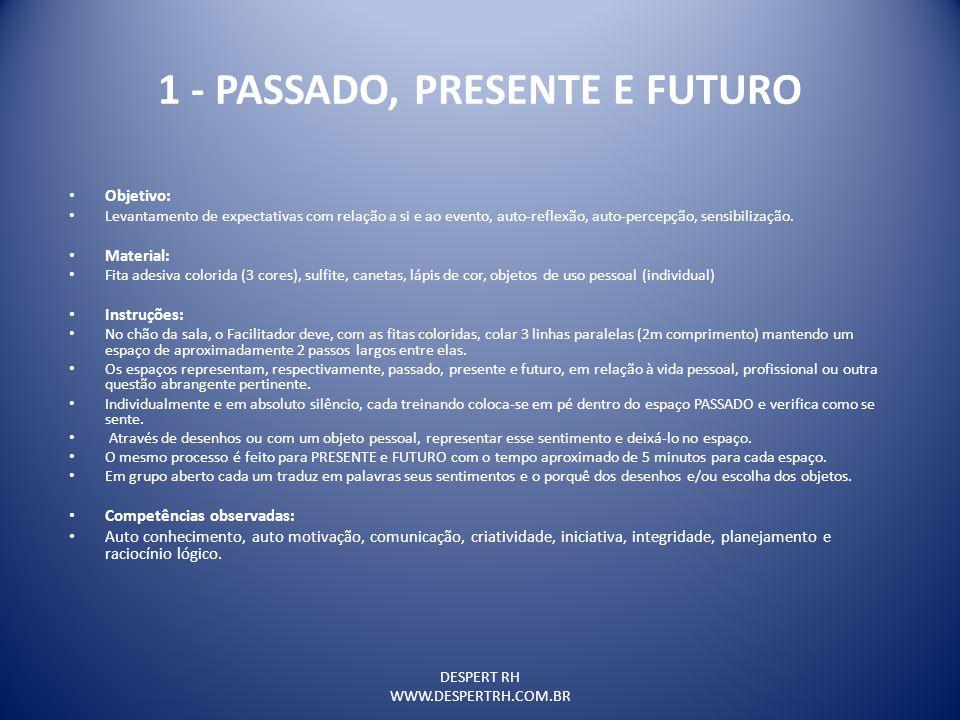 1 - PASSADO, PRESENTE E FUTURO