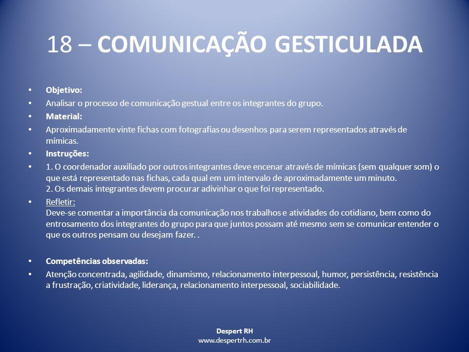 18 – COMUNICAÇÃO GESTICULADA