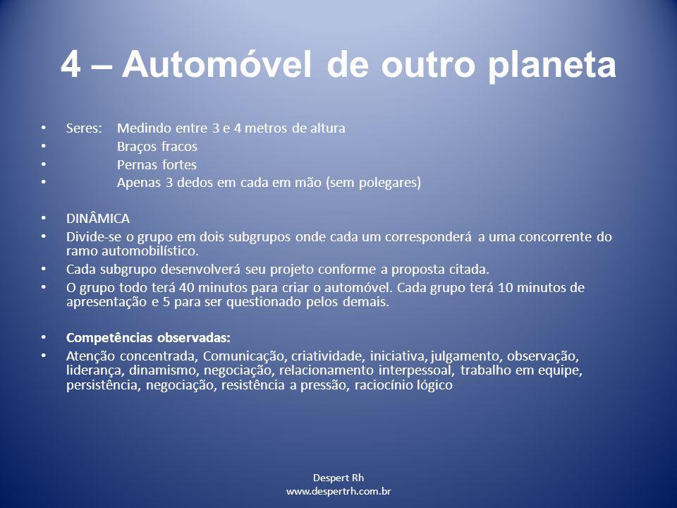 4 – Automóvel de outro planeta