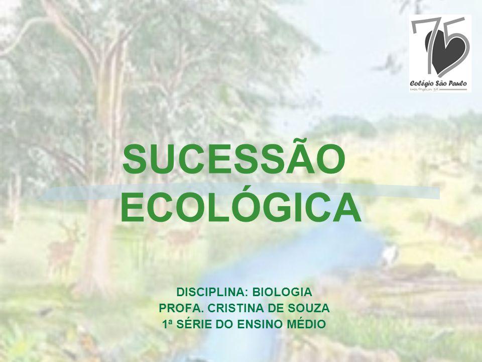 DISCIPLINA: BIOLOGIA PROFA. CRISTINA DE SOUZA 1ª SÉRIE DO ENSINO MÉDIO