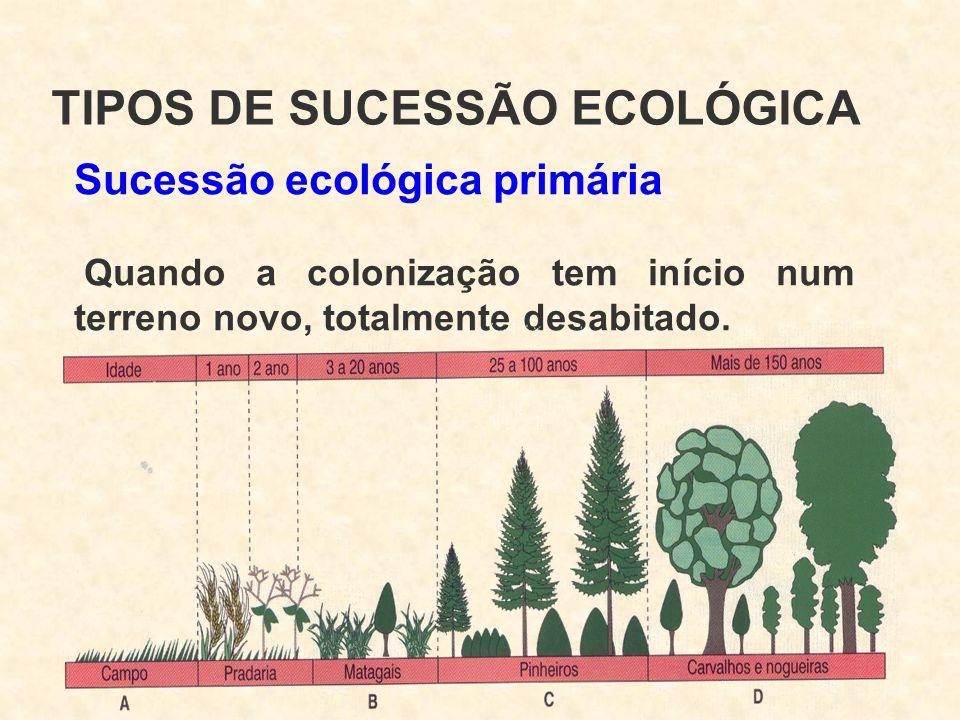 TIPOS DE SUCESSÃO ECOLÓGICA