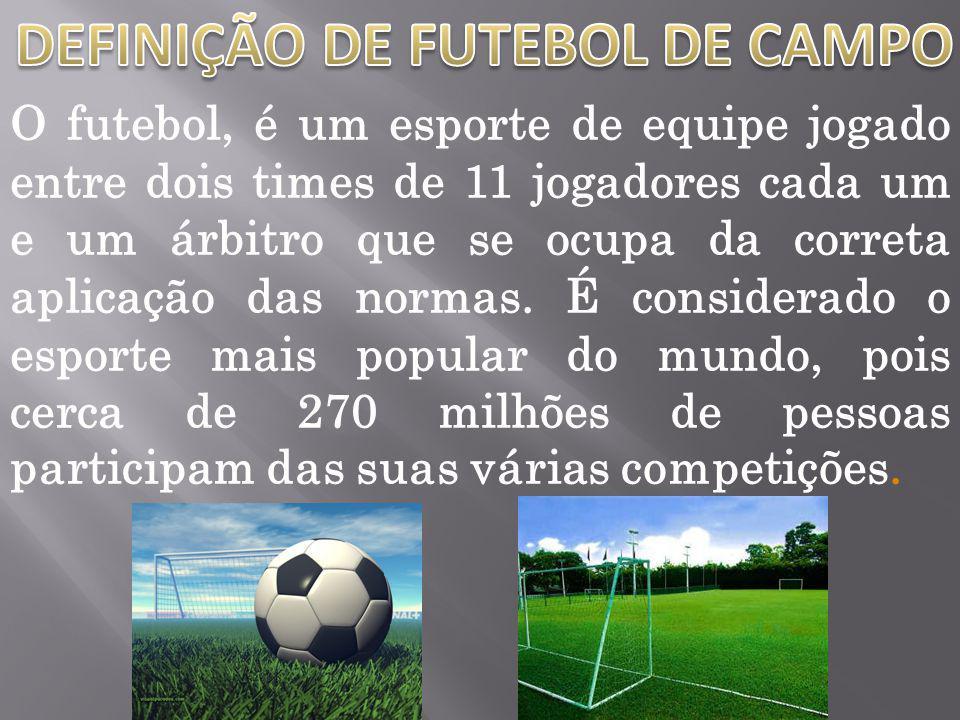 DEFINIÇÃO DE FUTEBOL DE CAMPO