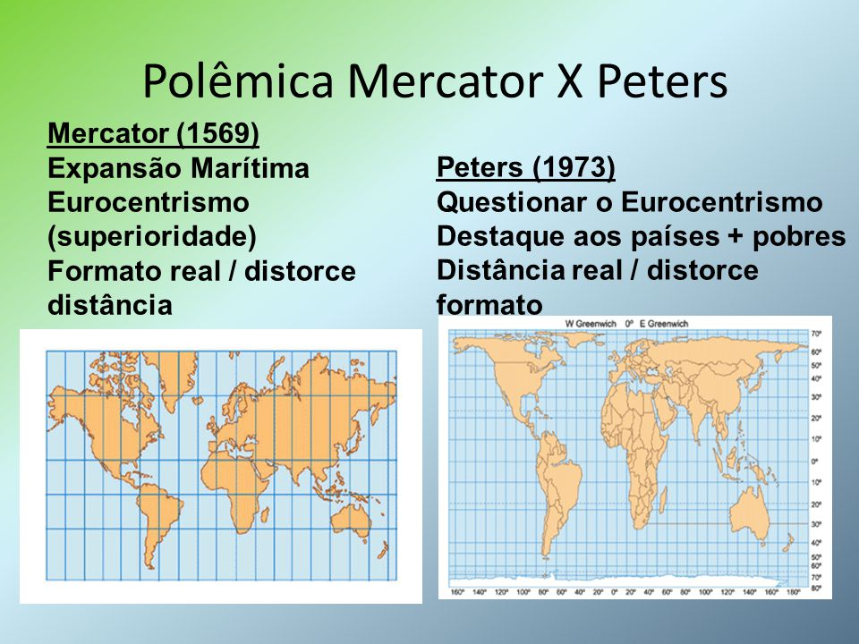 Polêmica Mercator X Peters