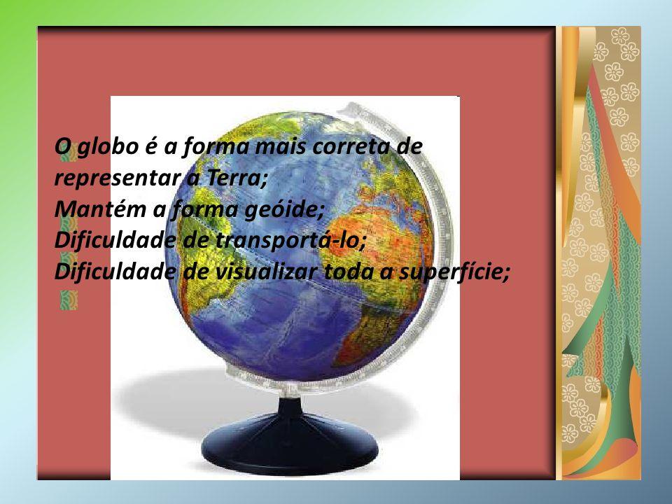 O globo é a forma mais correta de representar a Terra;