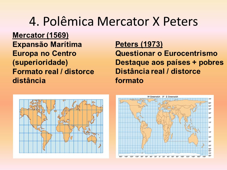 4. Polêmica Mercator X Peters