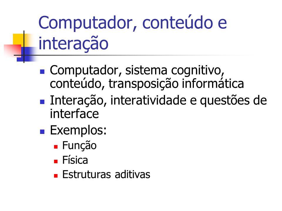 Computador, conteúdo e interação