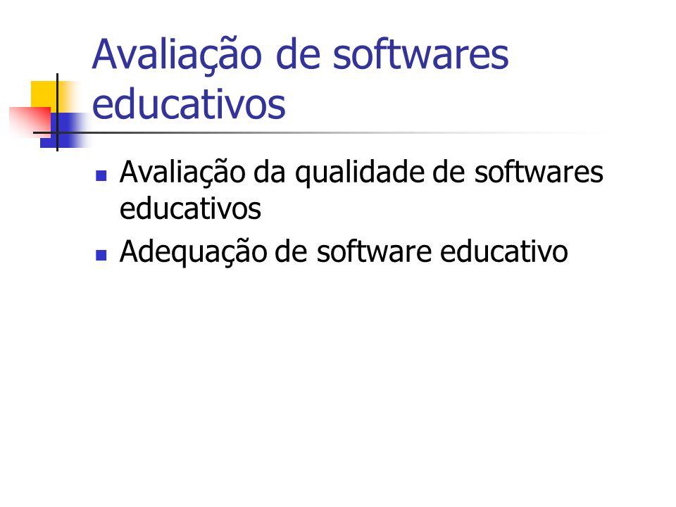 Avaliação de softwares educativos