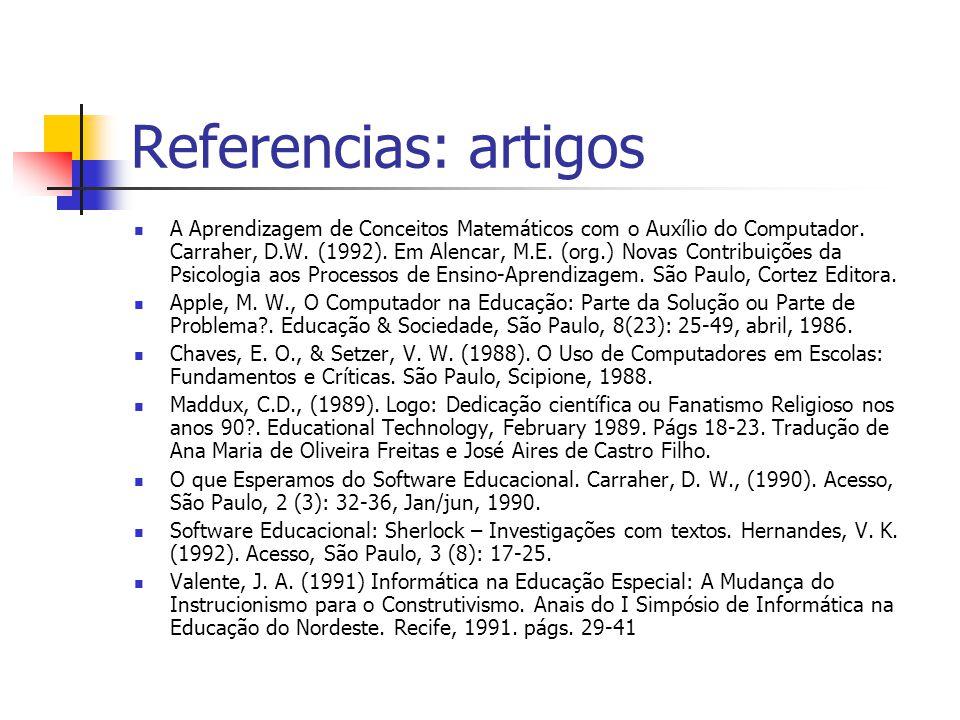 Referencias: artigos