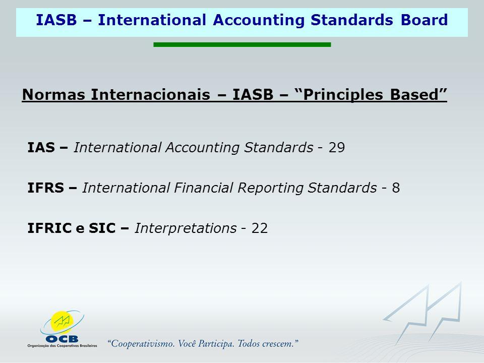 Normas Internacionais – IASB – Principles Based