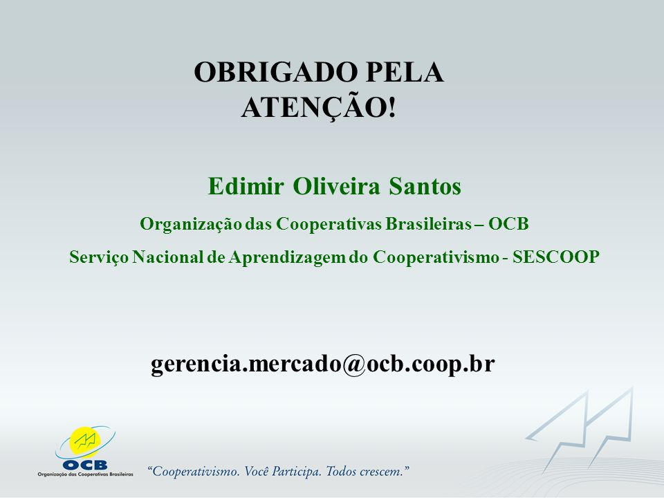 OBRIGADO PELA ATENÇÃO! Edimir Oliveira Santos