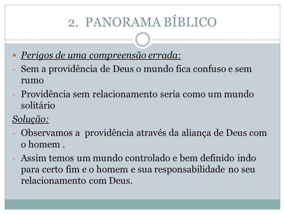 2. PANORAMA BÍBLICO Perigos de uma compreensão errada: