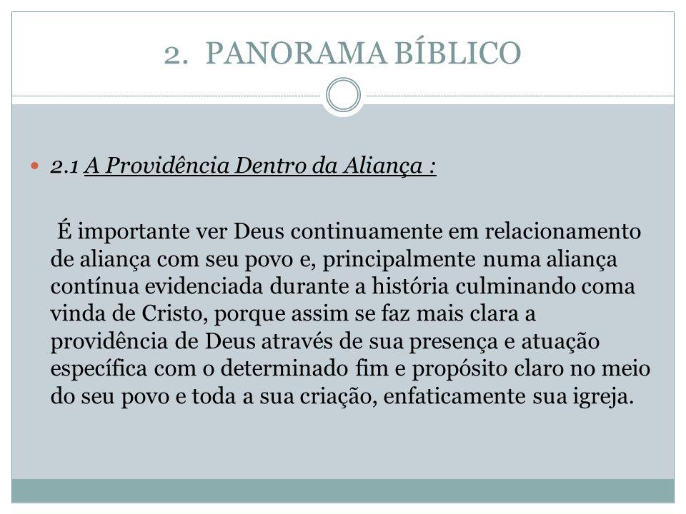 2. PANORAMA BÍBLICO 2.1 A Providência Dentro da Aliança :
