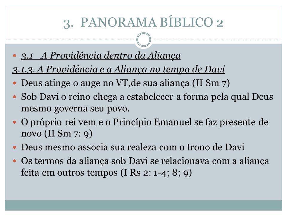 3. PANORAMA BÍBLICO 2 3.1 A Providência dentro da Aliança