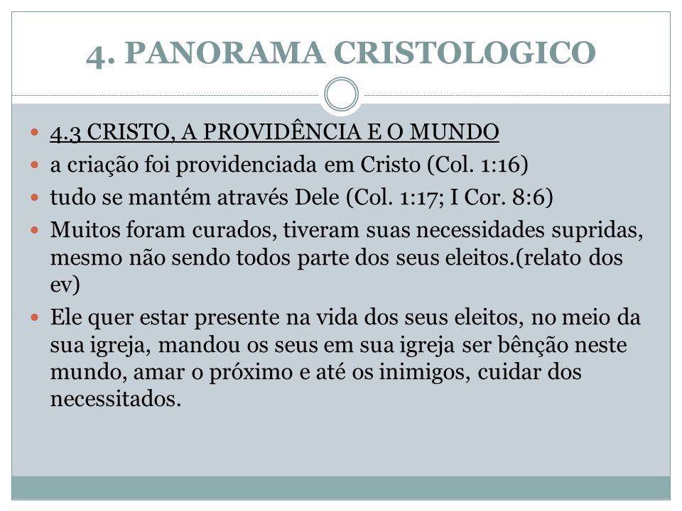 4. PANORAMA CRISTOLOGICO