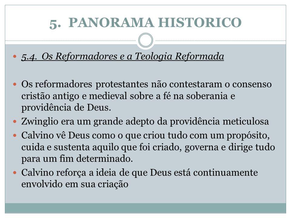 5. PANORAMA HISTORICO 5.4. Os Reformadores e a Teologia Reformada