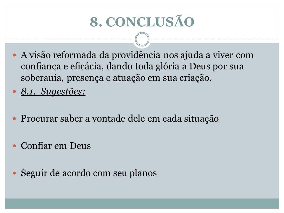8. CONCLUSÃO