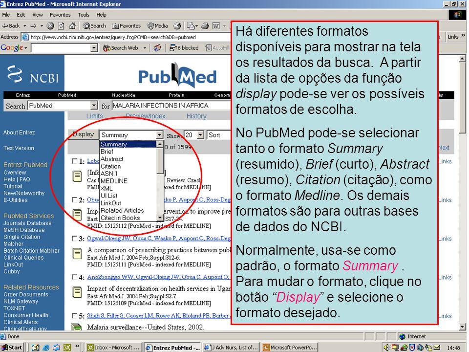 Formato de apresentação (display)