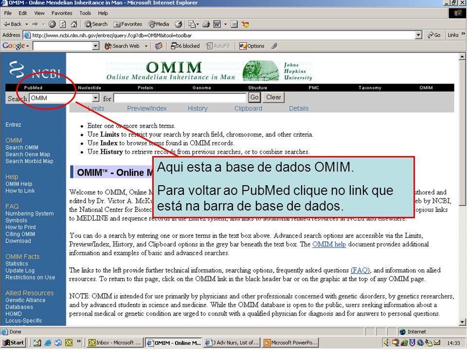 NCBI – base de dados OMIM