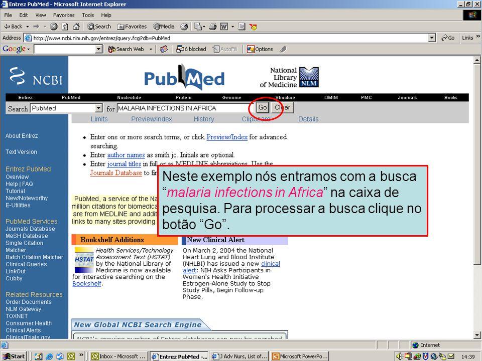 Pesquisa simples no PubMed