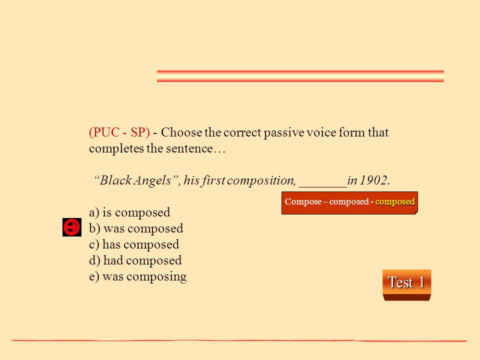 Compose – composed - composed