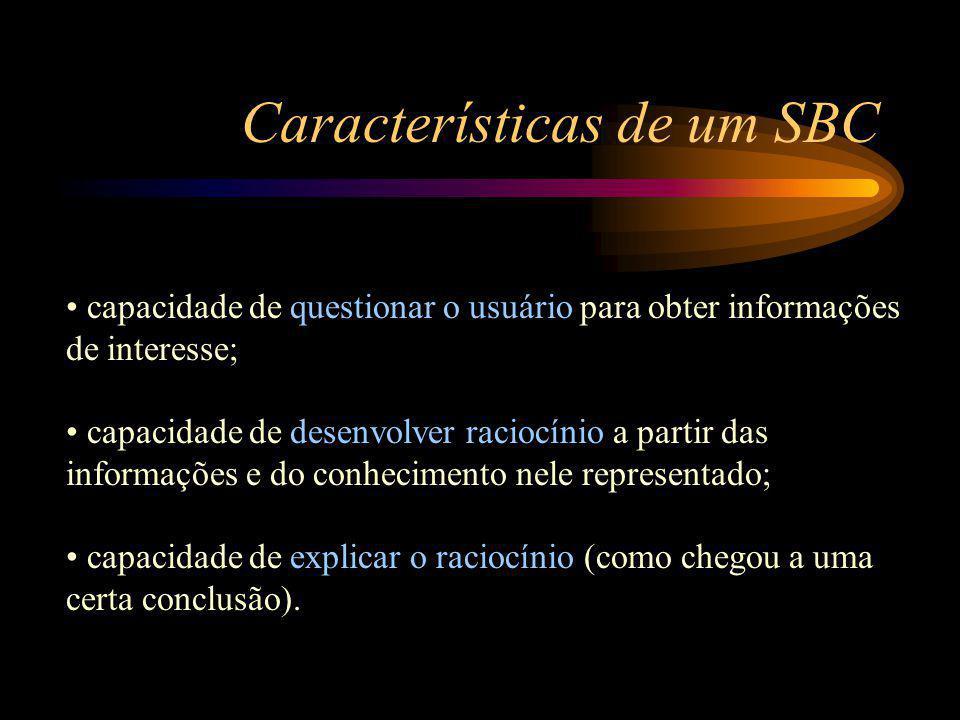 Características de um SBC