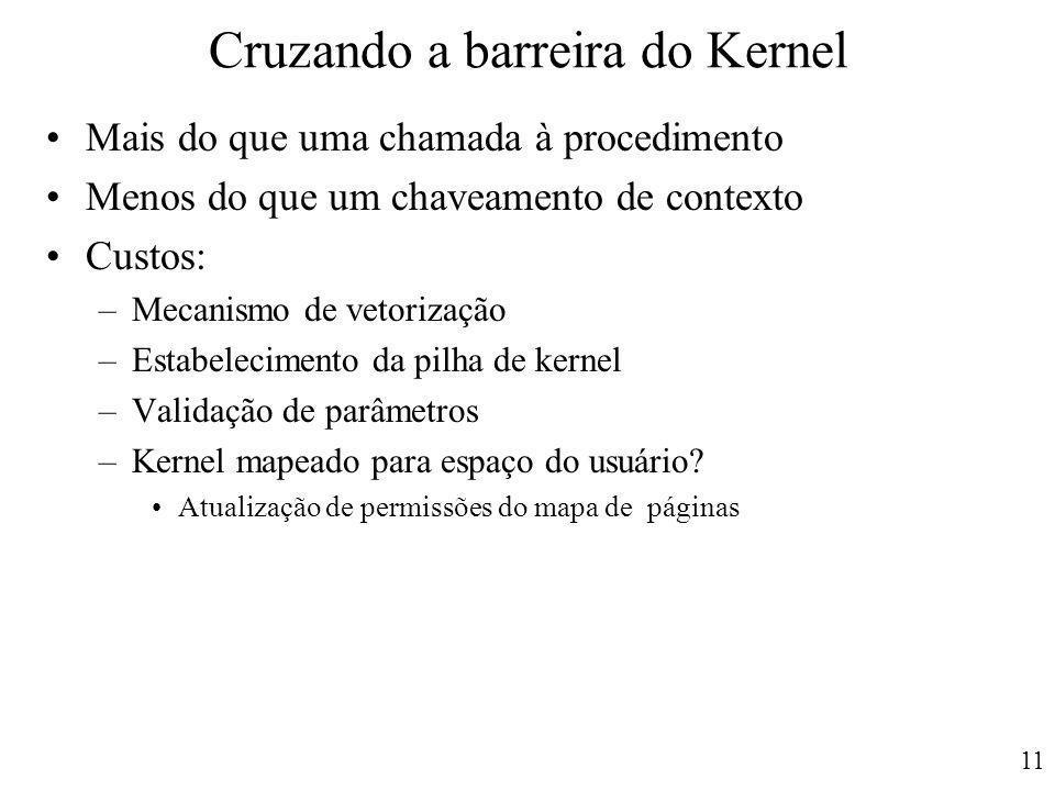 Cruzando a barreira do Kernel