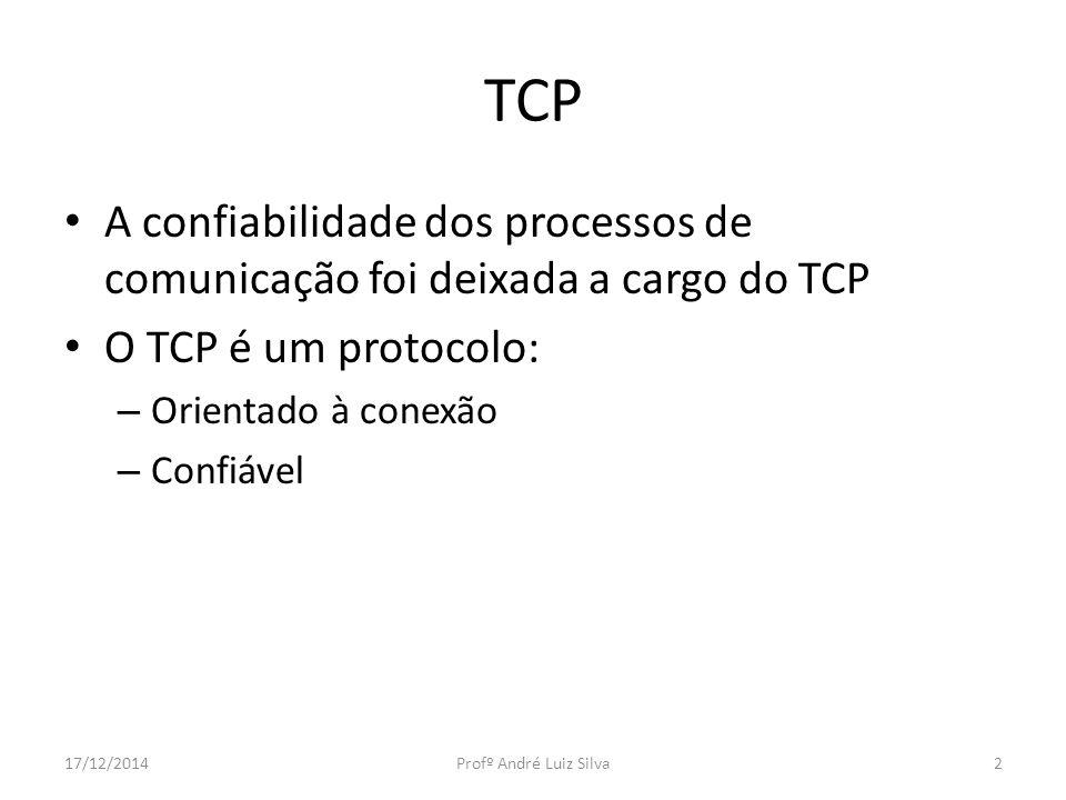 TCP A confiabilidade dos processos de comunicação foi deixada a cargo do TCP. O TCP é um protocolo: