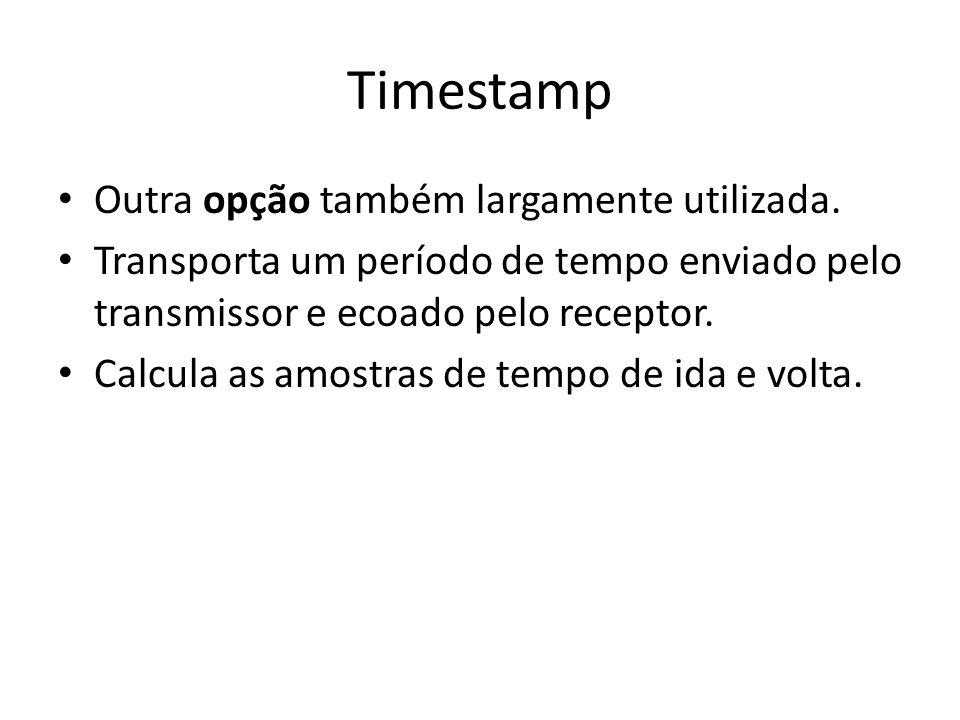 Timestamp Outra opção também largamente utilizada.