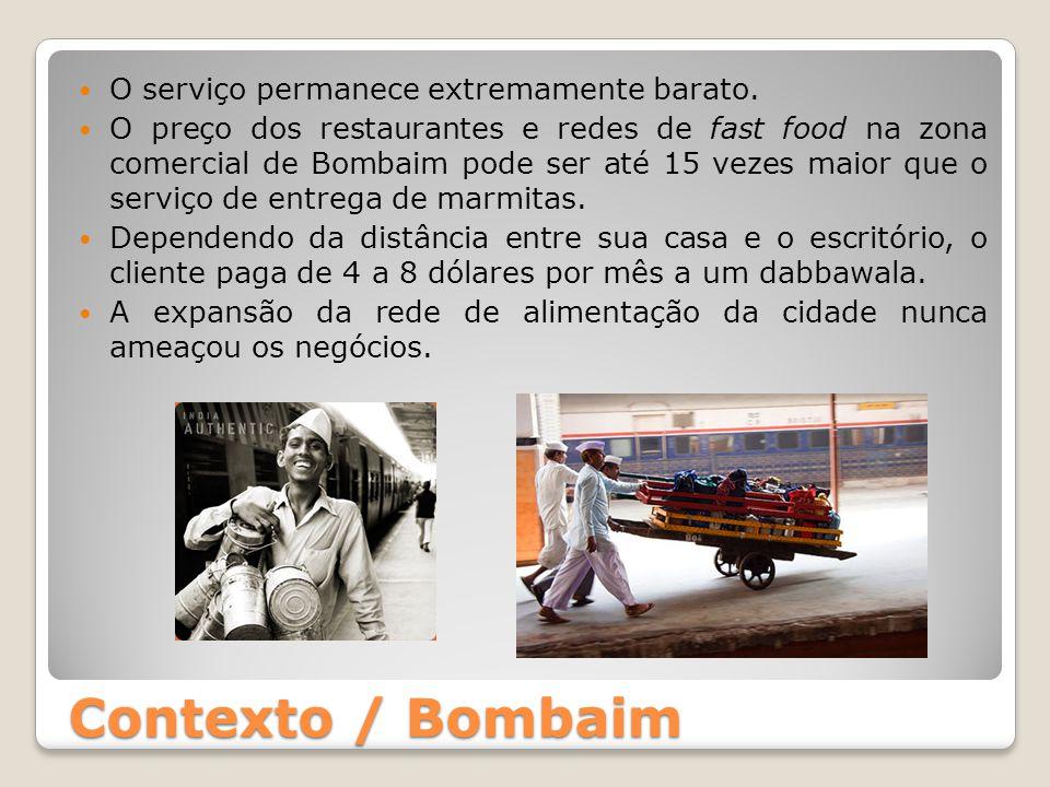 Contexto / Bombaim O serviço permanece extremamente barato.