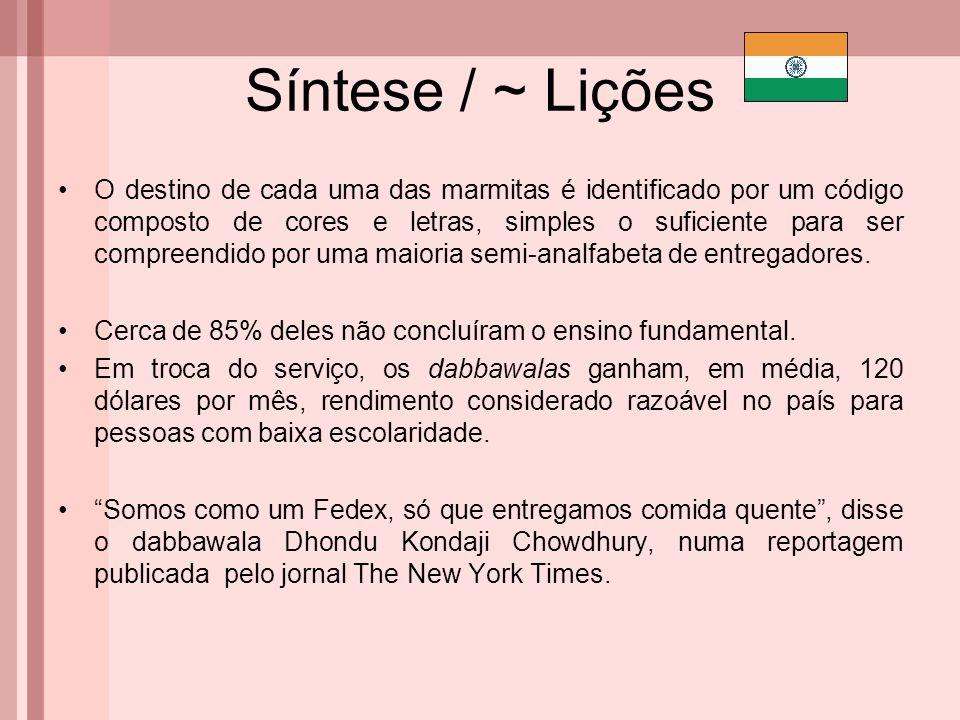 Síntese / ~ Lições