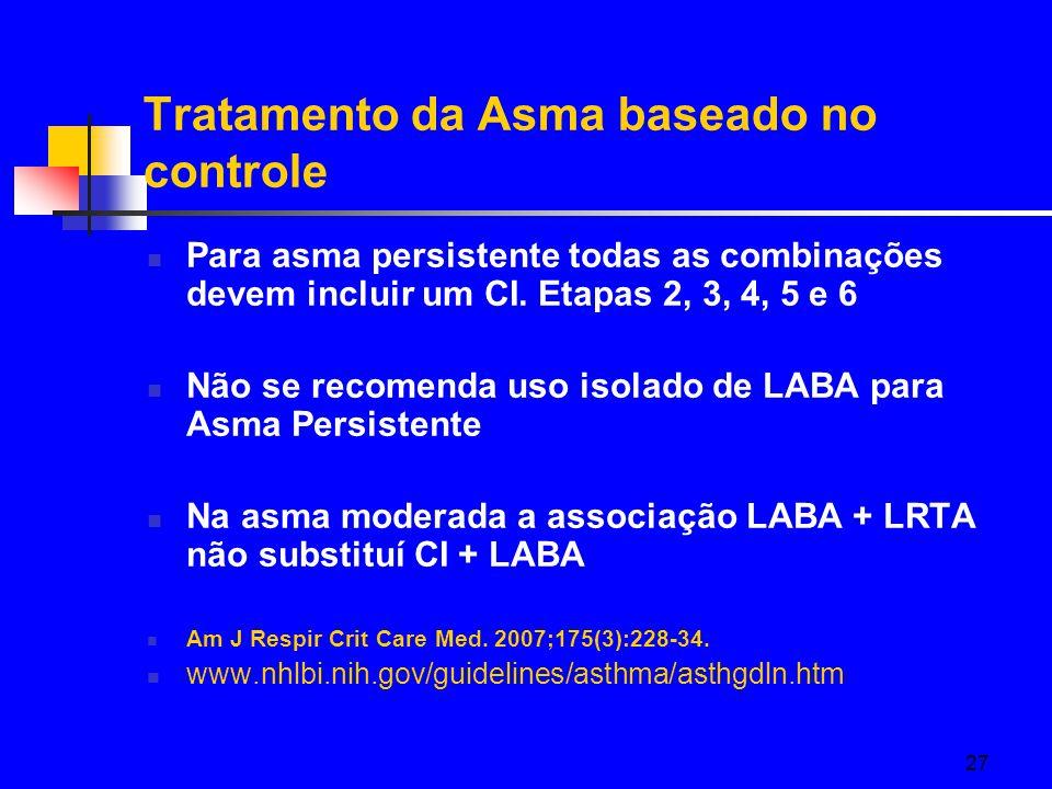 Tratamento da Asma baseado no controle