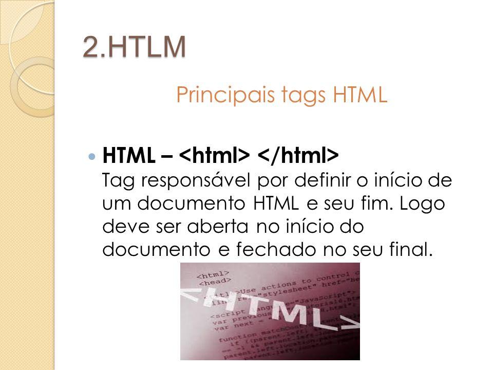 2.HTLM Principais tags HTML