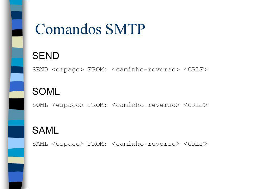 Comandos SMTP SEND SOML SAML