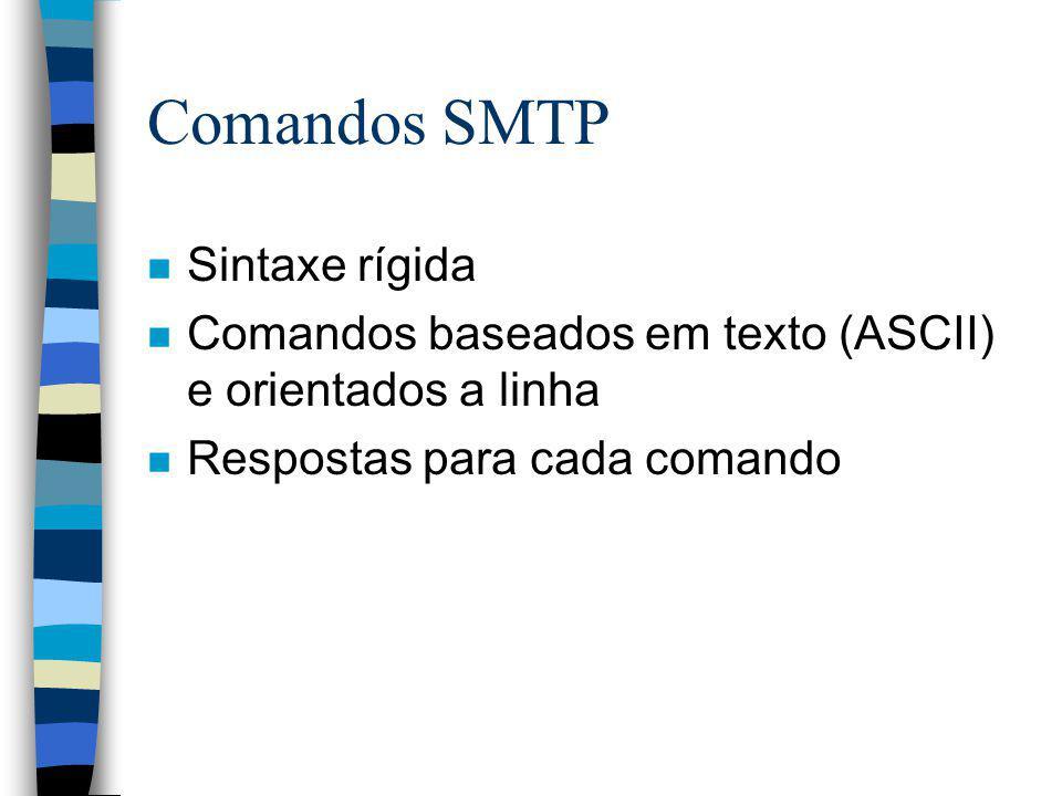 Comandos SMTP Sintaxe rígida