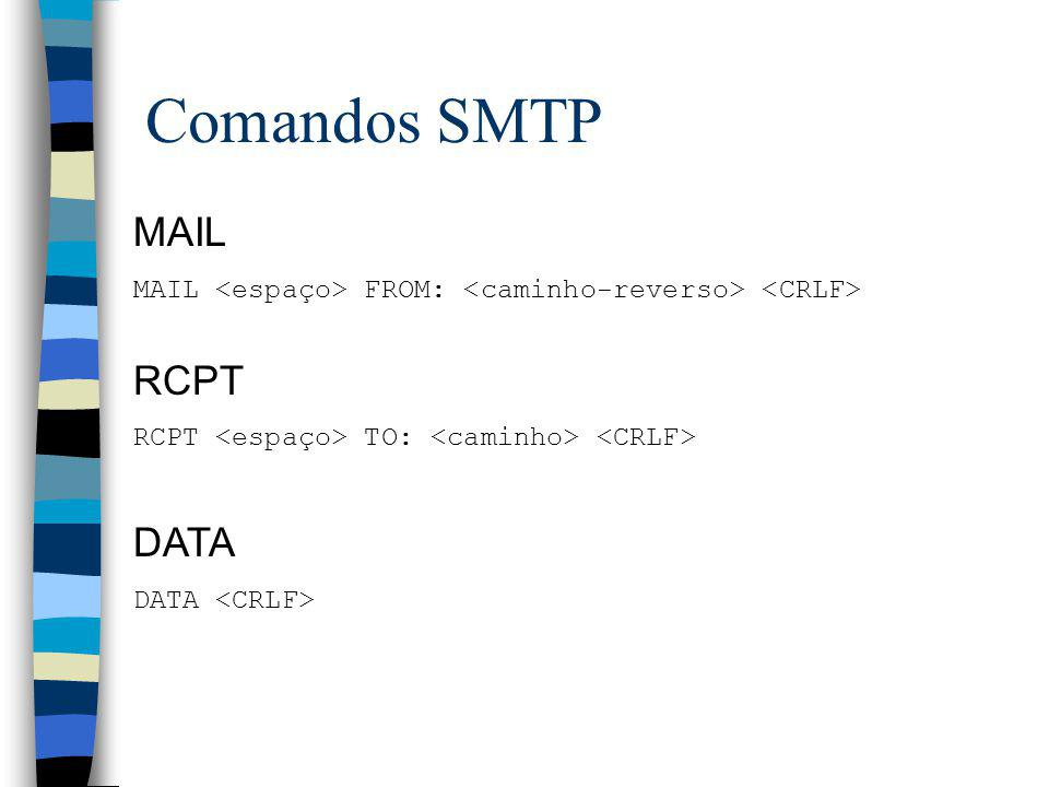 Comandos SMTP MAIL RCPT DATA