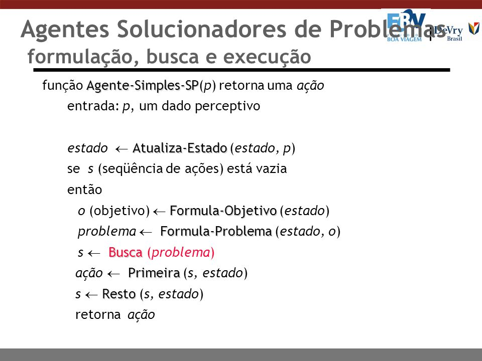 Agentes Solucionadores de Problemas formulação, busca e execução