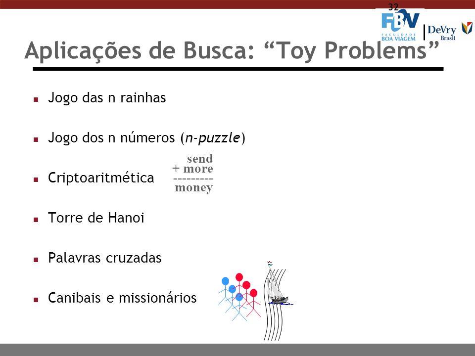 Aplicações de Busca: Toy Problems