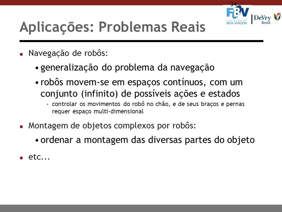 Aplicações: Problemas Reais