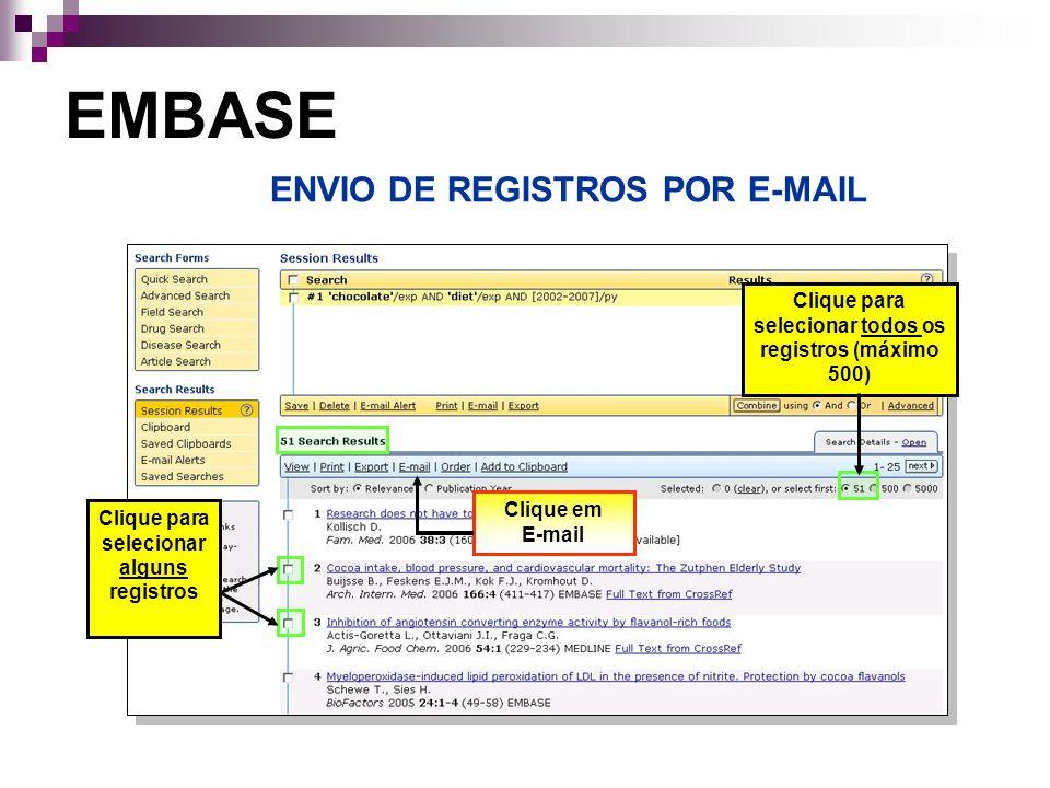 ENVIO DE REGISTROS POR E-MAIL