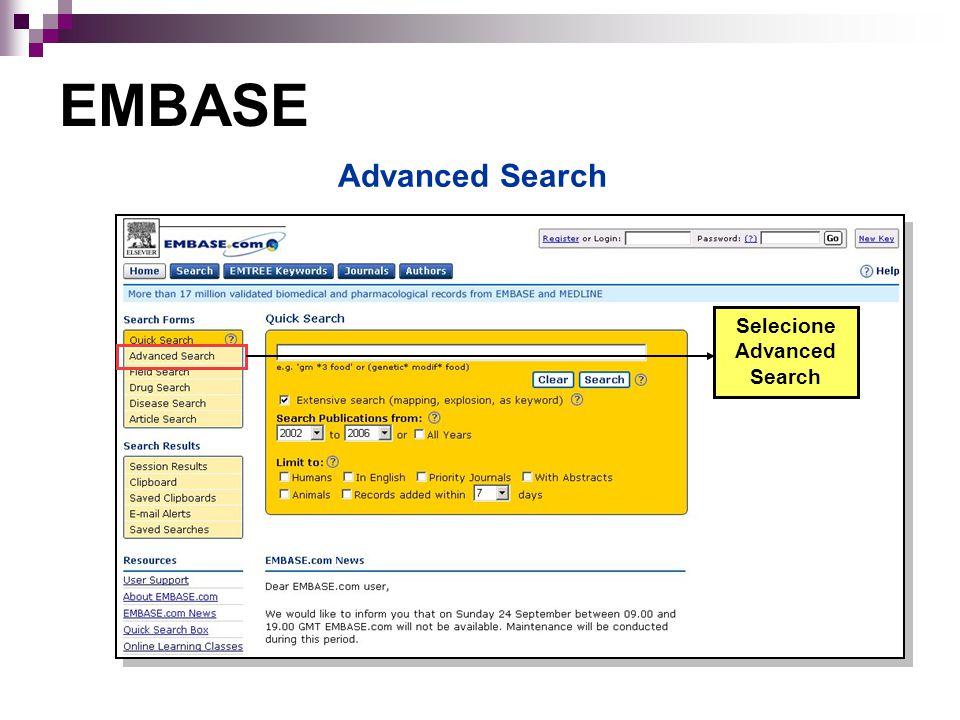 Selecione Advanced Search