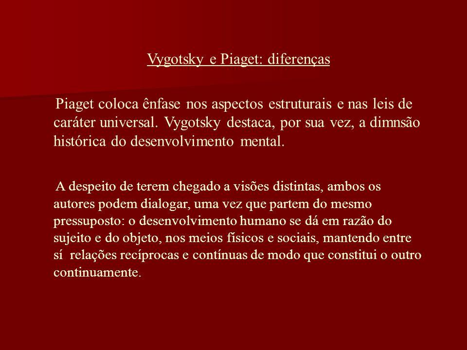 Vygotsky e Piaget: diferenças