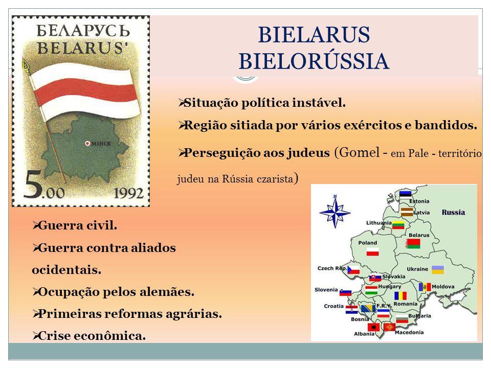 BIELARUS BIELORÚSSIA Situação política instável.