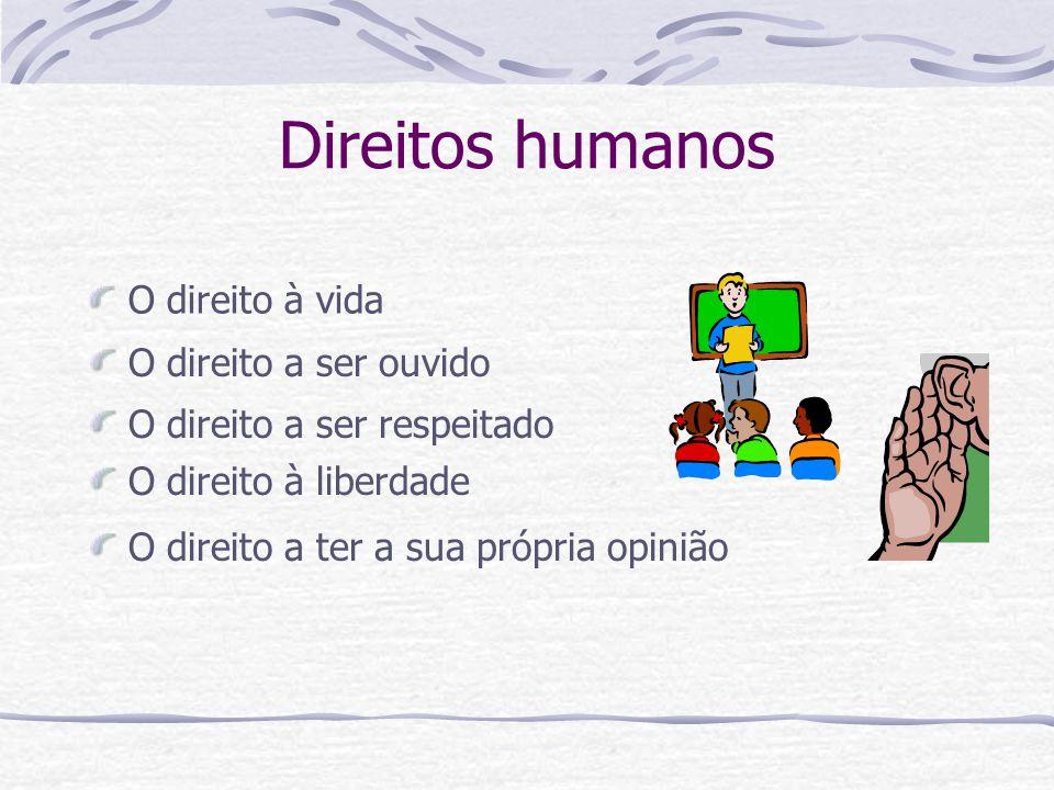 Direitos humanos O direito à vida O direito a ser ouvido