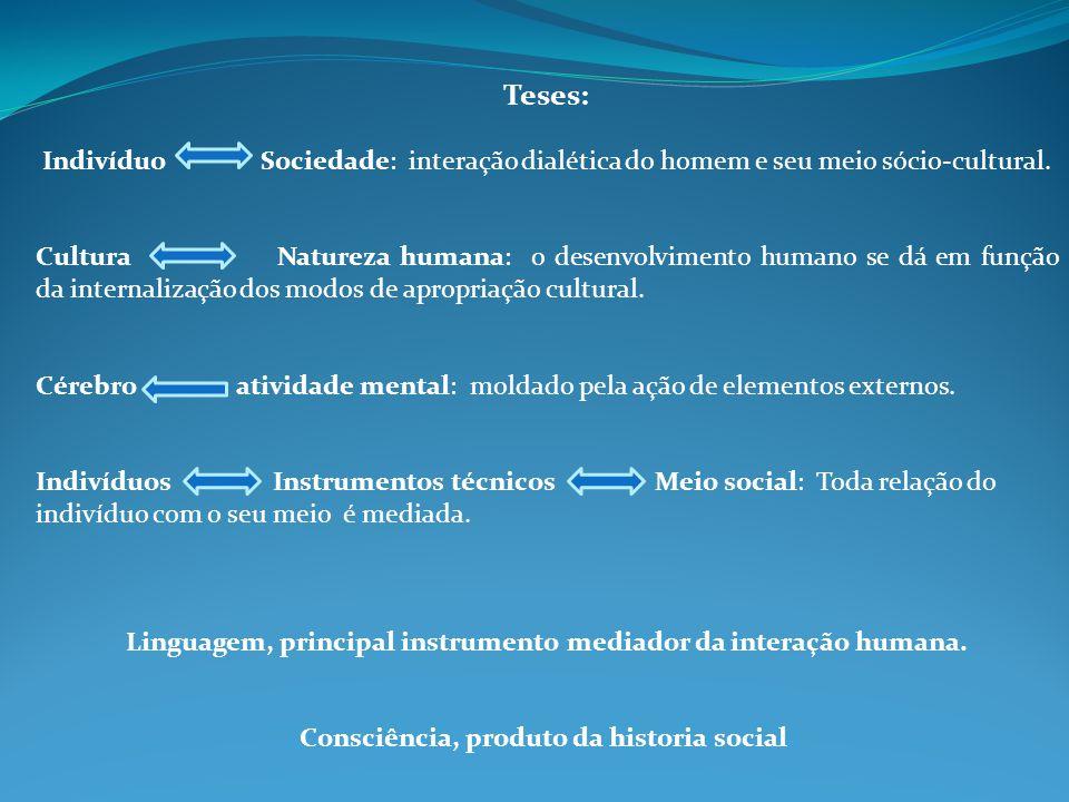 Linguagem, principal instrumento mediador da interação humana.