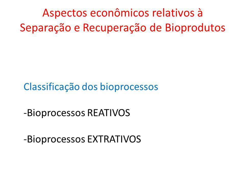 Aspectos econômicos relativos à Separação e Recuperação de Bioprodutos